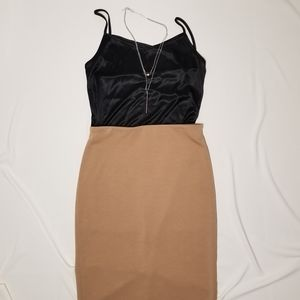 PHILOSOPHY thick beige tan pencil skirt midi 4